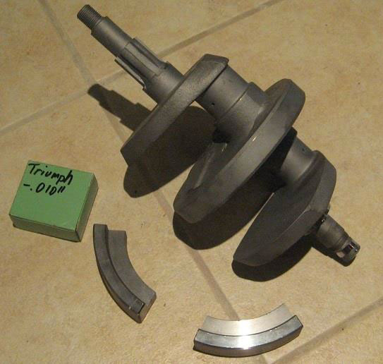 BSA crankshaft with counterweights